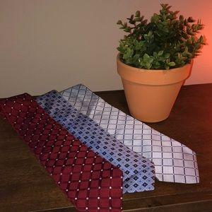 Set of 3 Tommy Hilfiger 100% Silk Ties